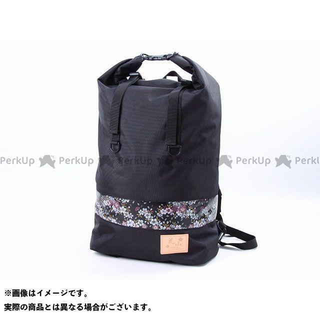 デグナー ツーリング用バッグ 花山 NB-12K 金襴マルチプルレインバッグ(ブラック/京桜) DEGNER