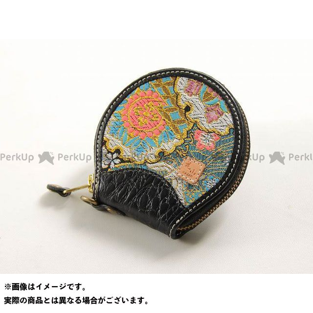 デグナー 財布 花山 W-70K コインケース 柄:都桜 カラー:ブラック DEGNER