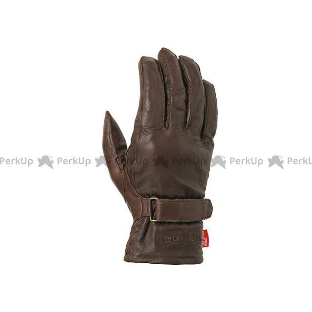送料無料 Honda ホンダ レザーグローブ Honda 2018-2019秋冬モデル OutDry CowLeather Gloves(ブラウン) M
