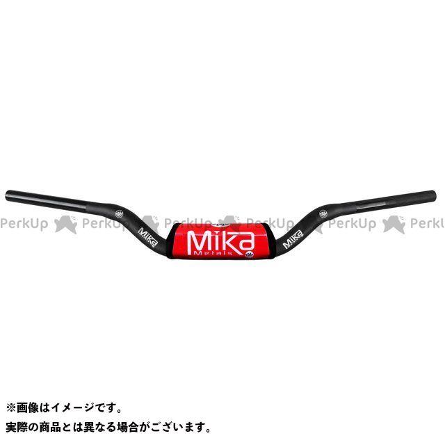 【エントリーで更にP5倍】MIKAメタルズ 汎用 ハンドル関連パーツ テーパーハンドルバー RAW シリーズ バーパッドカラー:レッド ベンドタイプ:MINI WIDE ミカメタルズ