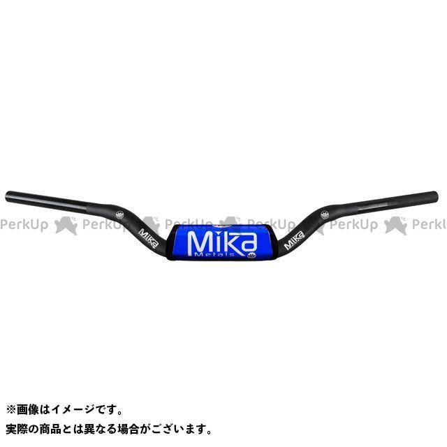 MIKAメタルズ 汎用 ハンドル関連パーツ テーパーハンドルバー RAW シリーズ バーパッドカラー:ブルー ベンドタイプ:CR LOW BEND ミカメタルズ