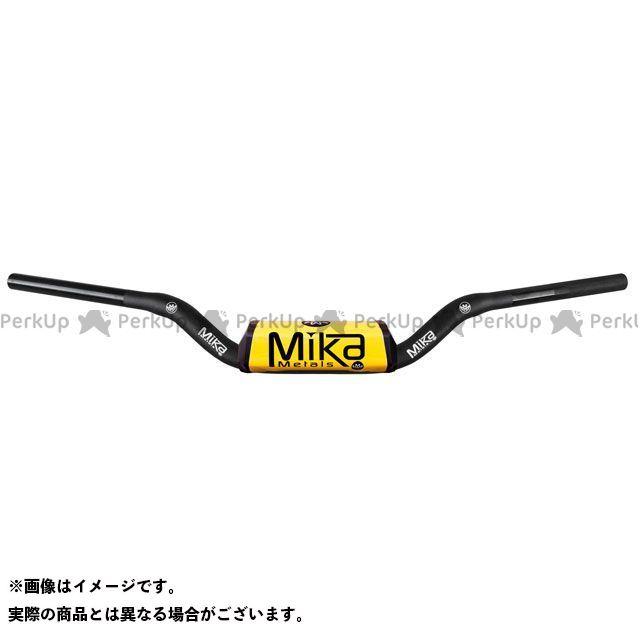 MIKAメタルズ 汎用 ハンドル関連パーツ テーパーハンドルバー RAW シリーズ イエロー CR LOW BEND
