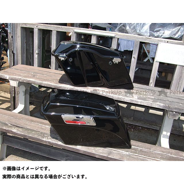 【特価品】American Dreams ドラッグスター400(DS4) ツーリング用ボックス ツーリング サイドボックス 左右セット(黒) アメリカンドリームス