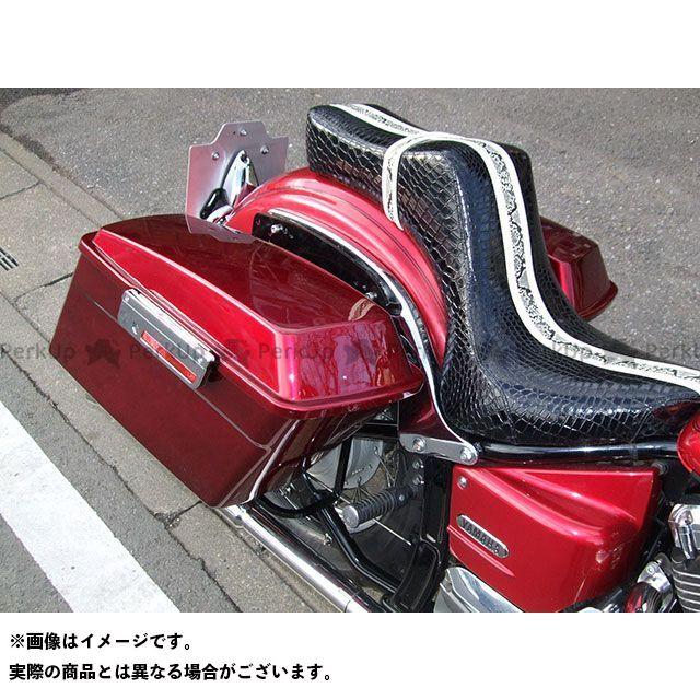【特価品】American Dreams イントルーダークラシック400 ツーリング用ボックス ツーリング サイドボックス 左右セット(赤) アメリカンドリームス