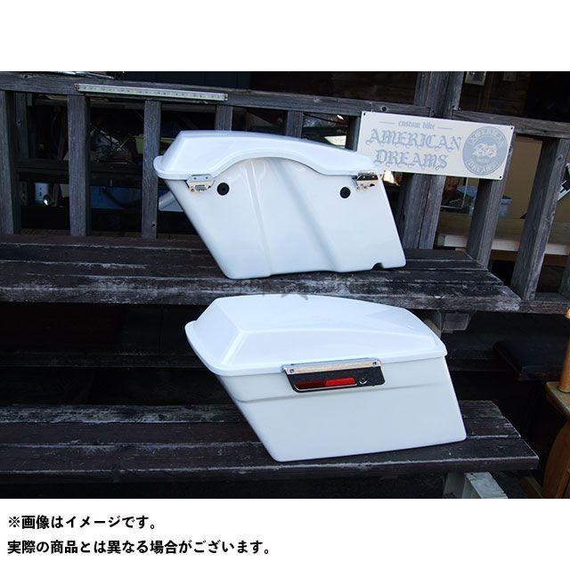 【特価品】American Dreams ドラッグスター400(DS4) ツーリング用ボックス ツーリング サイドボックス 左右セット(白) アメリカンドリームス