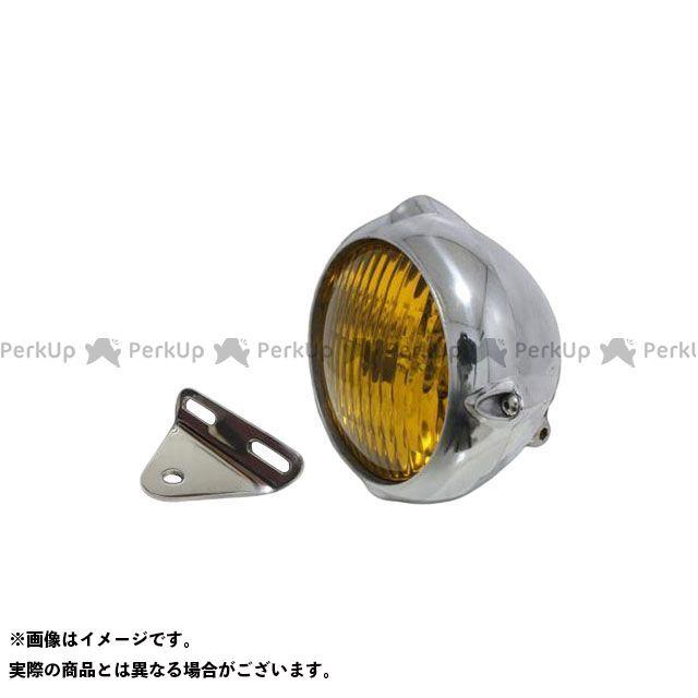 ガレージティーアンドエフ Vツインマグナ ヘッドライト・バルブ 4.5インチビンテージライト(ポリッシュ)&ライトステー(タイプA) キット