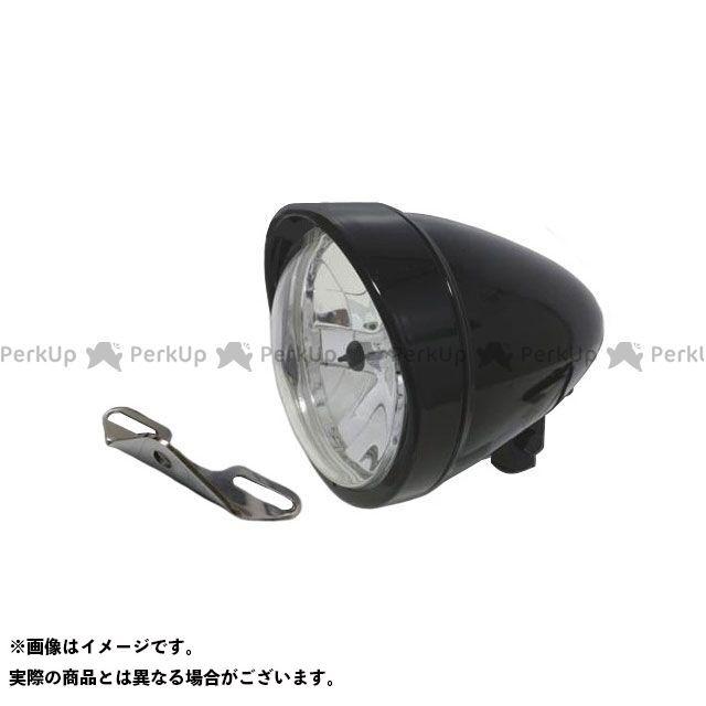 ガレージティーアンドエフ ドラッグスタークラシック1100(DSC11) ヘッドライト・バルブ 5.75インチロケットライト(ブラック)&ライトステー(タイプB) キット