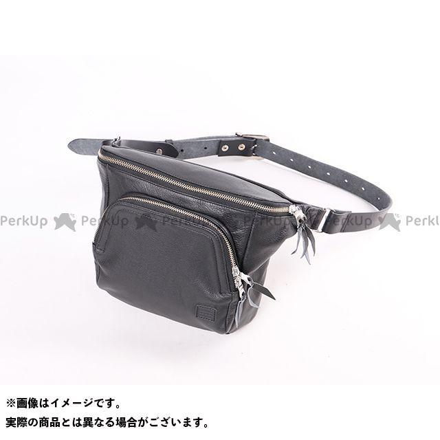 送料無料 DEGNER デグナー ツーリング用バッグ W-107 がま口レザーボディバッグ(ブラック)