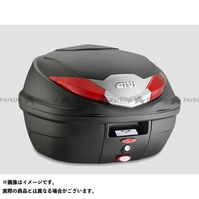 GIVI ツーリング用ボックス B360N モノロックケース(無塗装ブラック/レッドレンズ) ジビ