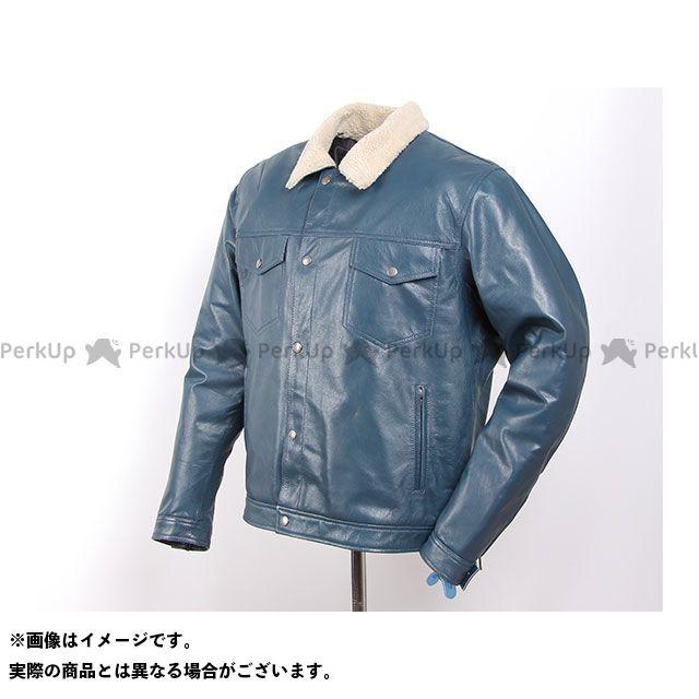 デグナー ジャケット 18WJ-6 インナーボアゴートレザージャケット(ブルー) サイズ:XL DEGNER