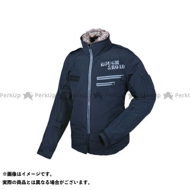 ラフ ロード RoughRoad ジャケット 注目ブランド バイクウェア 新登場 無料雑誌付き サイズ:LL 特価品 ブラック フライトジャケットEM RR7684