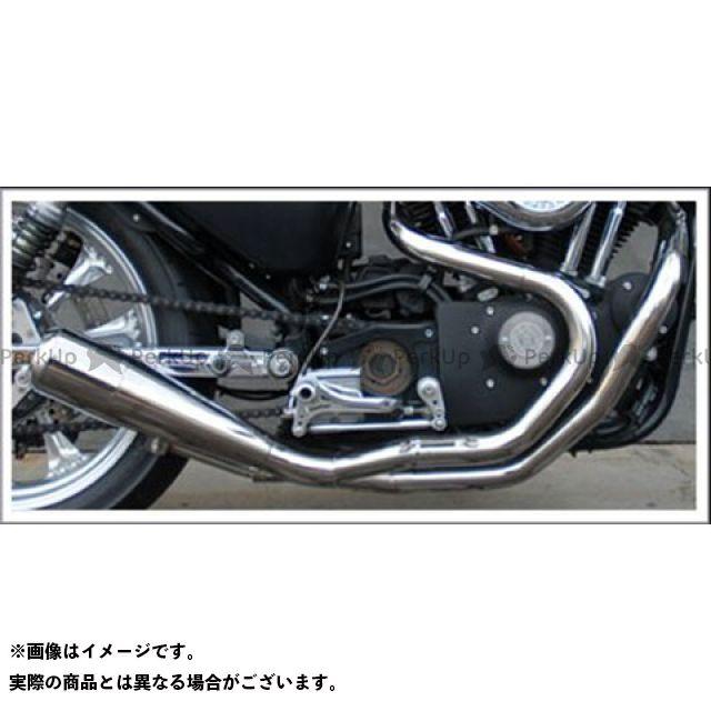 Tramp Cycle スポーツスターファミリー汎用 マフラー本体 TMF-030E-BK Fulltitanium Muffler 2in1 BLACK (ブラックペイント) トランプ