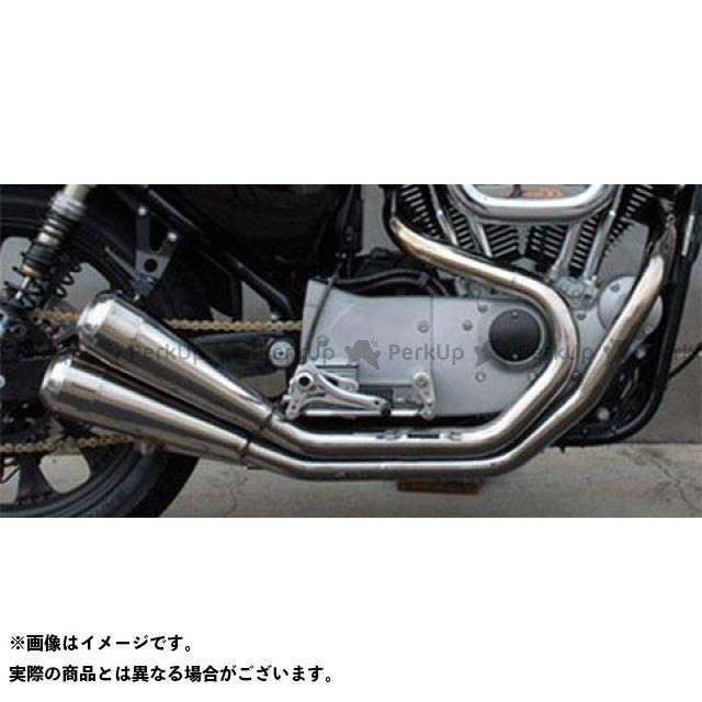 【エントリーで最大P21倍】Tramp Cycle スポーツスターファミリー汎用 マフラー本体 TMF-032E -BK Fulltitanium Muffler Dual BLACK (ブラックペイント) トランプ