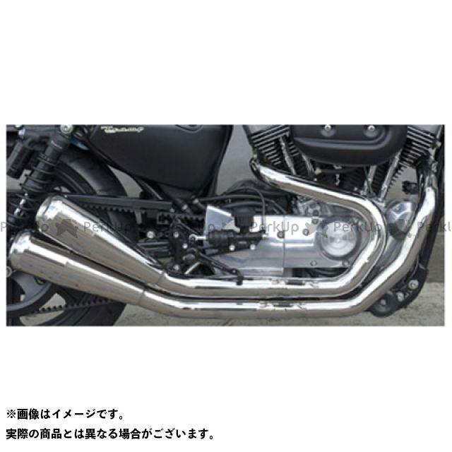 【エントリーで最大P21倍】Tramp Cycle スポーツスターファミリー汎用 マフラー本体 TMF-R01-13-GlowEmit Fulltitanium Muffler Dual Race spec type ポリッシュ仕様:GlowEmit …