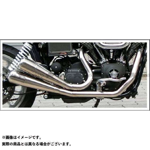 Tramp Cycle ダイナファミリー汎用 マフラー本体 TMF-020E-GlowEmit Fulltitanium Muffler Dual ポリッシュ仕様:GlowEmit トランプ