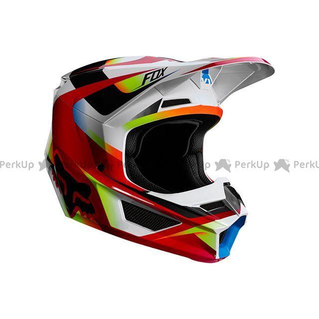 送料無料 FOX フォックス オフロードヘルメット V1 モティーフ ヘルメット(レッド/ホワイト) S/55-56cm