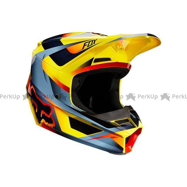 送料無料 FOX フォックス オフロードヘルメット V1 モティーフ ヘルメット(イエロー) M/57-58cm