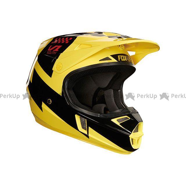 送料無料 FOX フォックス オフロードヘルメット V1 ユース マスター ヘルメット(イエロー) YM/49-50cm