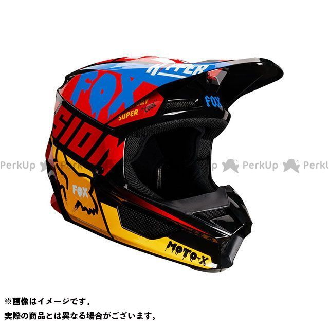 フォックス オフロードヘルメット V1 ユース ヘルメット ツァール(ブラック/イエロー) サイズ:YS/47-48cm FOX