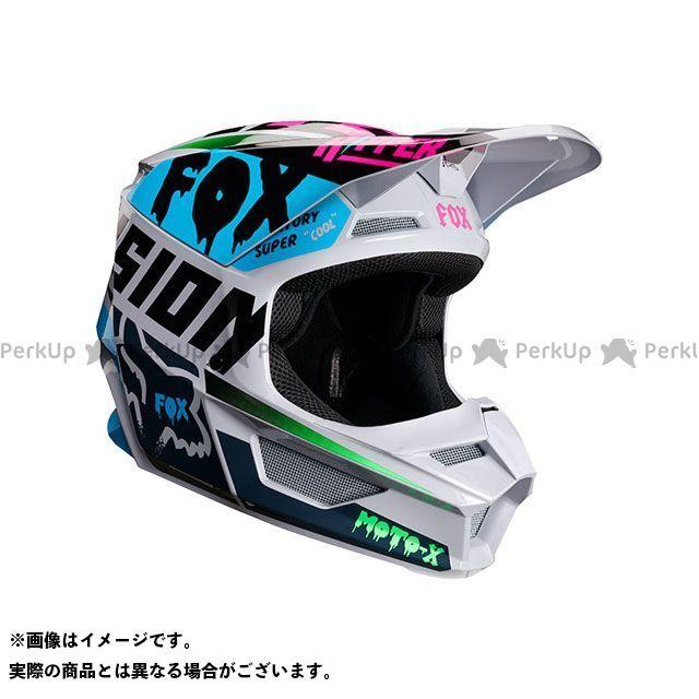 送料無料 FOX フォックス オフロードヘルメット V1 ユース ヘルメット ツァール(ライトグレー) YM/49-50cm