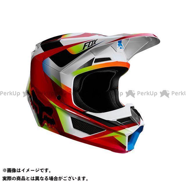 送料無料 FOX フォックス オフロードヘルメット V1 ユース ヘルメット モティーフ(レッド/ホワイト) YL/51-52cm