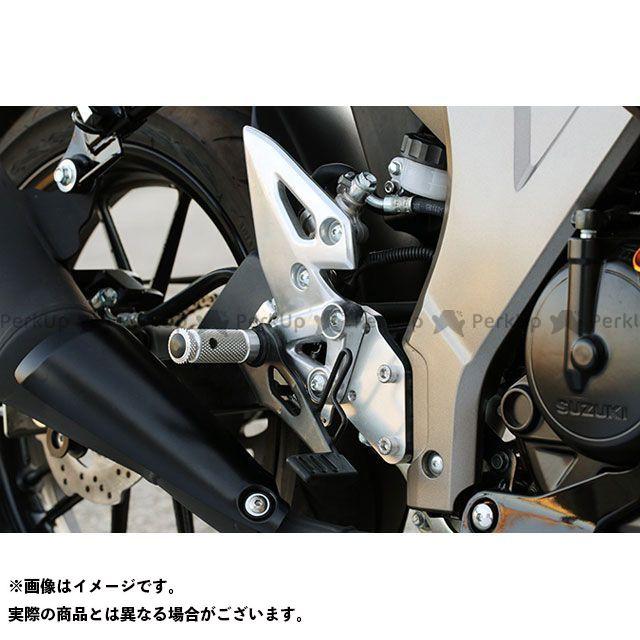 【無料雑誌付き】BABYFACE GSX-R125 バックステップ関連パーツ セットバックプレート(シルバー) ベビーフェイス