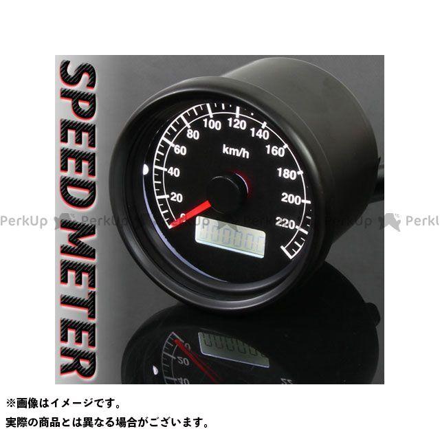 【エントリーで最大P21倍】RISE CORPORATION 汎用 スピードメーター 機械式 240km/h 60mm LEDスピードメーター ブラックボディ/ブラックパネル ライズコーポレーション