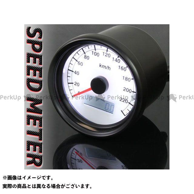 【エントリーで最大P23倍】RISE CORPORATION 汎用 スピードメーター 機械式 240km/h 60mm LEDスピードメーター ブラックボディ/ホワイトパネル ライズコーポレーション