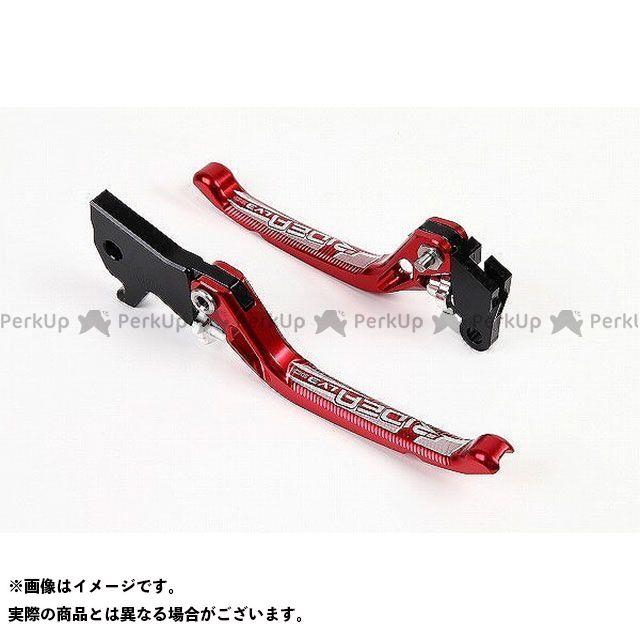 【特価品】RIDEA グロム モンキー125 レバー 3Dノブアジャストブレーキレバー 左右セット(レッド) リデア