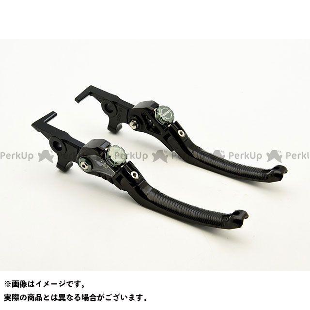【特価品】RIDEA Z900RS Z900RSカフェ レバー LV4 Omega スタンダード可倒式ノブアジャスターレバー 左右セット(レバー本体:ブラック/ノブアジャスター:チタン) リデア