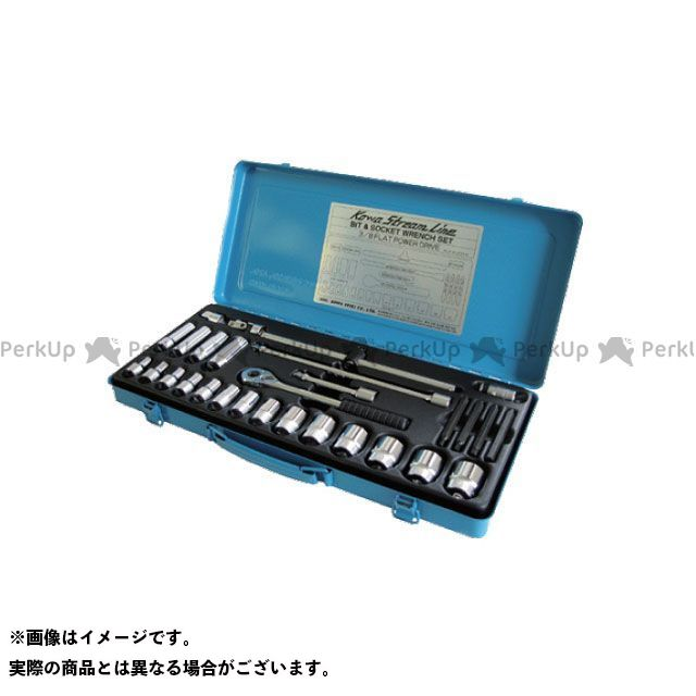 KOWA SEIKI ハンドツール フラットパワーソケットセット 3/8SQ フラットパワーソケットセット 3/8SQ 興和精機(KOWA SEIKI)