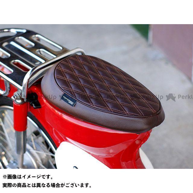 KEPSPEED スーパーカブ50 シート関連パーツ カブ用 ダイヤカット カスタム シングルシート(ブラウン)  ケップスピード