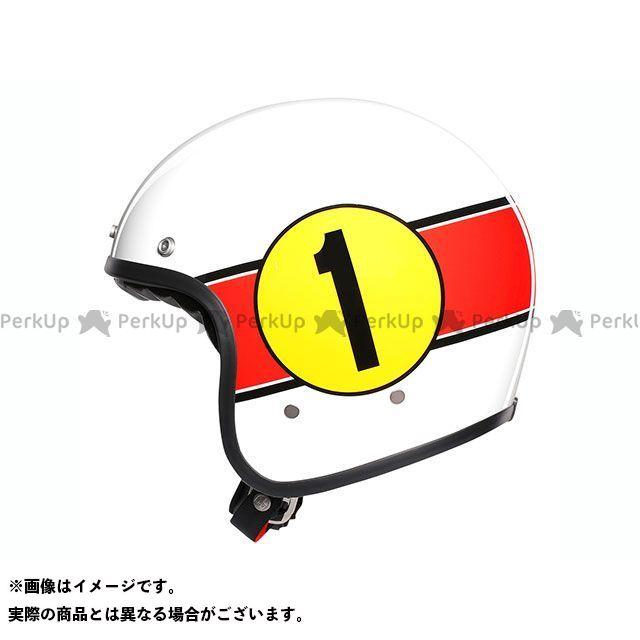 エージーブイ ジェットヘルメット X70 007-MINO 73 WHITE/RED サイズ:M AGV