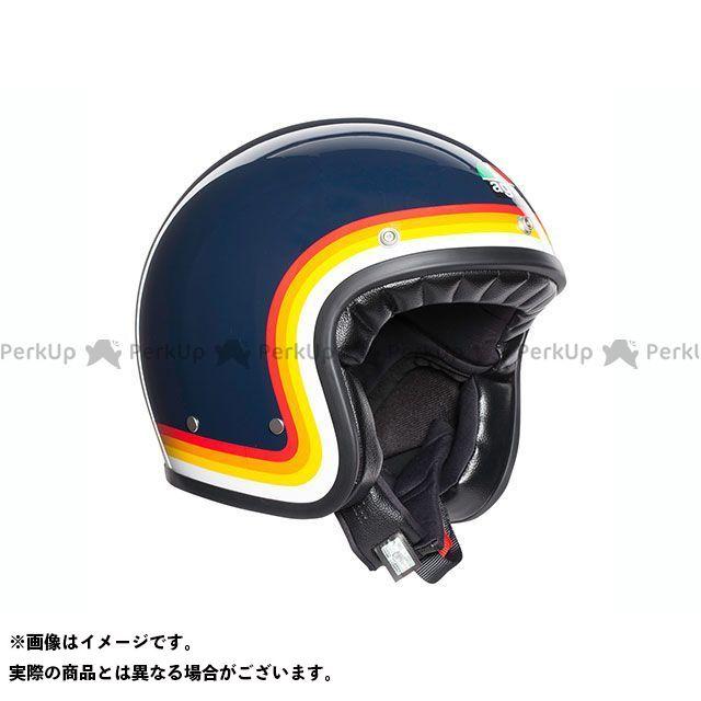 エージーブイ ジェットヘルメット X70 009-RIVIERA BLUE/RAINBOW サイズ:L AGV