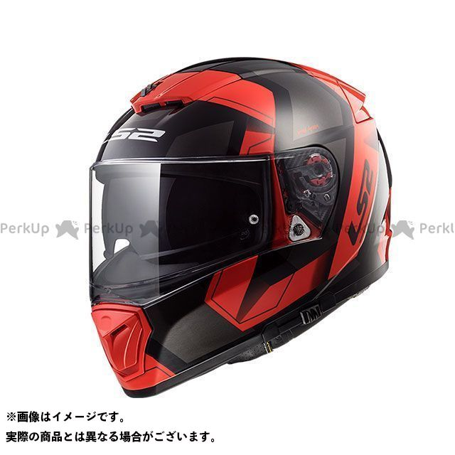 エルエスツー フルフェイスヘルメット BREAKER(ブラックレッド) サイズ:S LS2 HELMETS