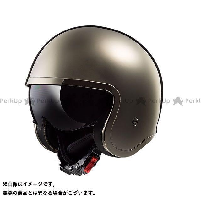 送料無料 LS2 HELMETS エルエスツー ジェットヘルメット SPITFIRE(クローム) M