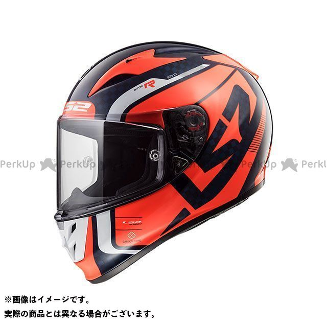 エルエスツー フルフェイスヘルメット ARROW C EVO(ブルーフルーオレンジ) サイズ:M LS2 HELMETS