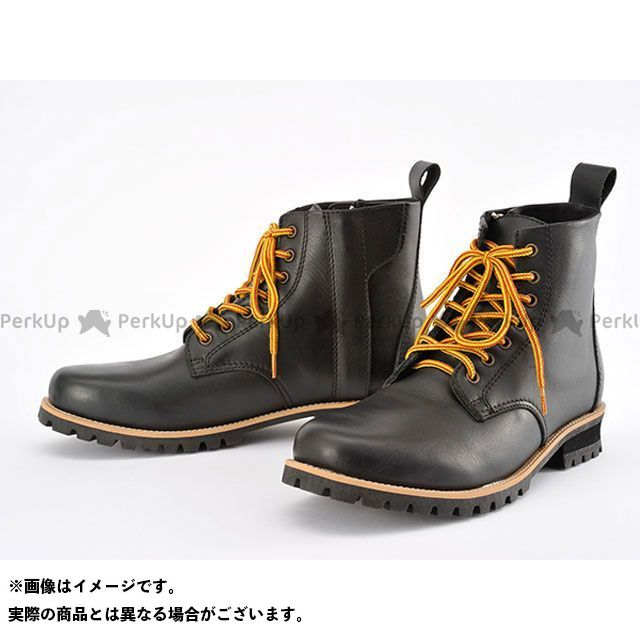HenlyBegins ライディングブーツ HBS-003 ショートブーツ ブラック サイズ:24.0cm ヘンリービギンズ