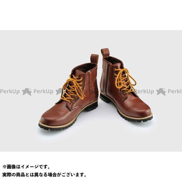 HenlyBegins ライディングブーツ HBS-003 ショートブーツ ブラウン サイズ:24.5cm ヘンリービギンズ