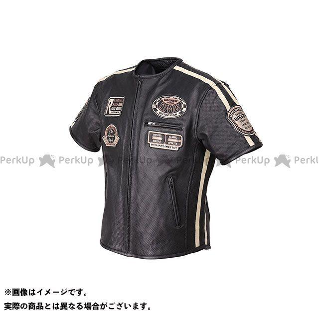 デグナー ジャケット 19SJ-9 メッシュハーフスリーブレザージャケット(ブラック) サイズ:M DEGNER