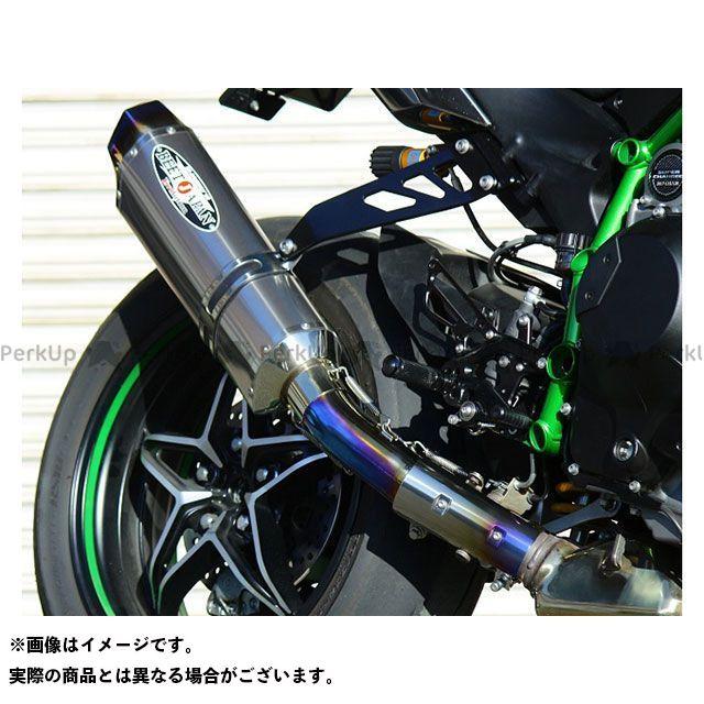 ビートジャパン ニンジャH2(カーボン) マフラー本体 NASSERT Evolution Type II スリップオンマフラー(クリアチタン)  BEET