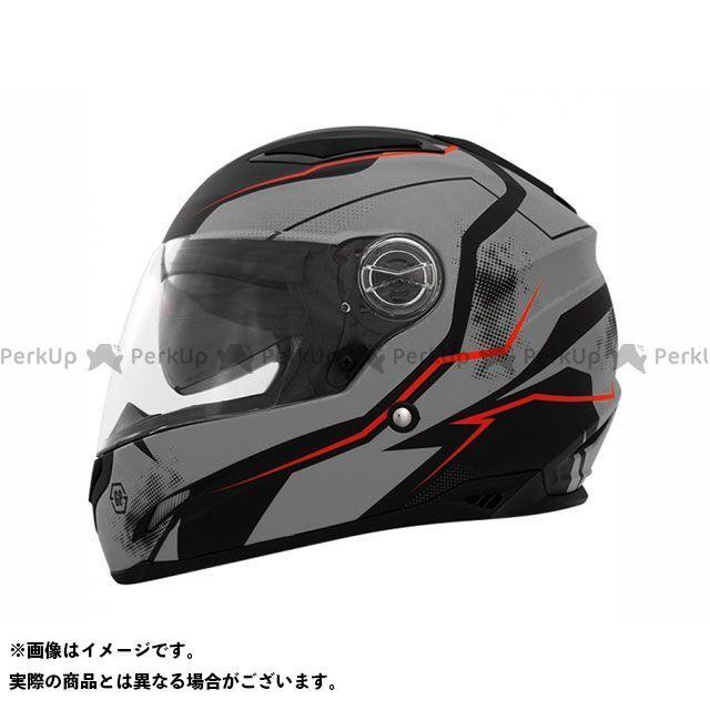 ティーエイチエイチ フルフェイスヘルメット TS-81 フルフェイスヘルメット(クウェイク グレーレッド) XL THH