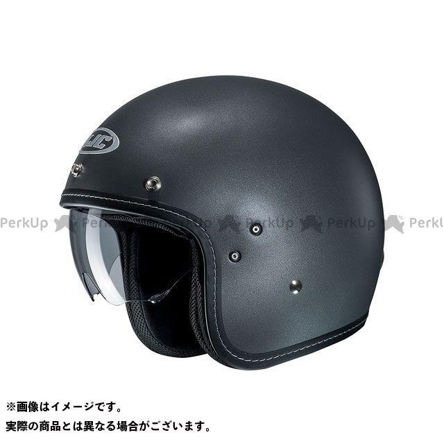 送料無料 HJC エイチジェイシー ジェットヘルメット HJH168 FG-70S ソリッド(セミフラットチタニウム) M/57-58cm
