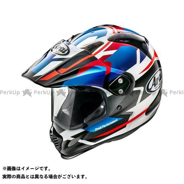 送料無料 アライ ヘルメット Arai オフロードヘルメット TOUR CROSS 3 DEPARTURE(ツアークロス3・デパーチャー) ブルー 54cm