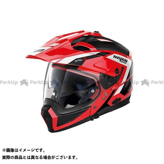 送料無料 NOLAN ノーラン システムヘルメット(フリップアップ) N702 X グランデスアルプス コルサレッド L