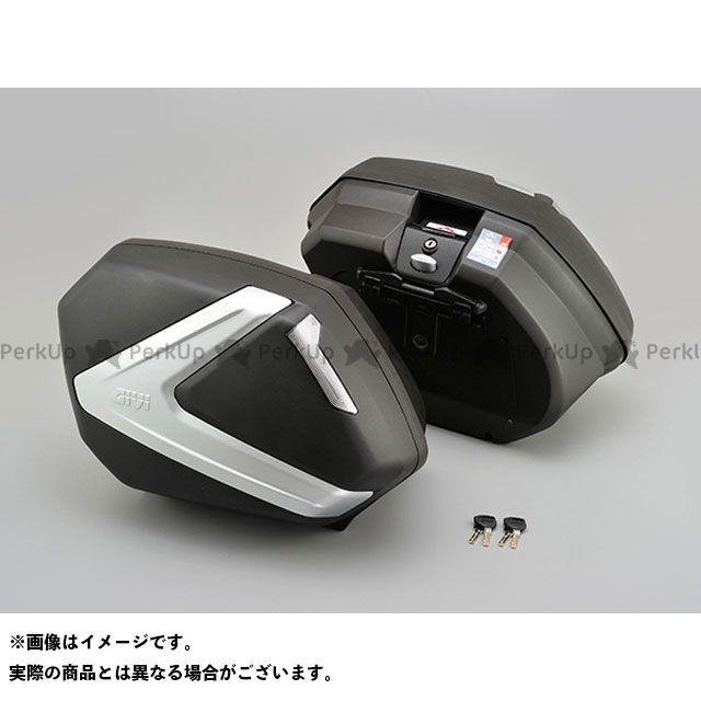GIVI ツーリング用ボックス V37N V37(左右1セット) 37L 未塗装ブラック TECHスモークレンズ ジビ