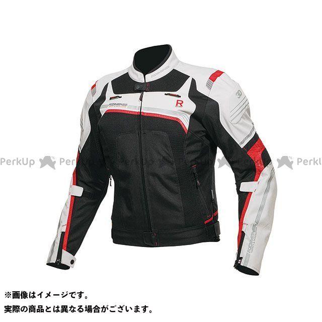 KOMINE ジャケット 2019年春夏モデル JK-130 Rスペックメッシュジャケット(ライトグレー/ブラック) サイズ:M コミネ