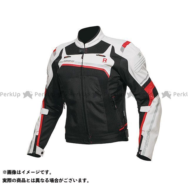 KOMINE ジャケット 2019年春夏モデル JK-130 Rスペックメッシュジャケット(ライトグレー/ブラック) サイズ:2XL コミネ