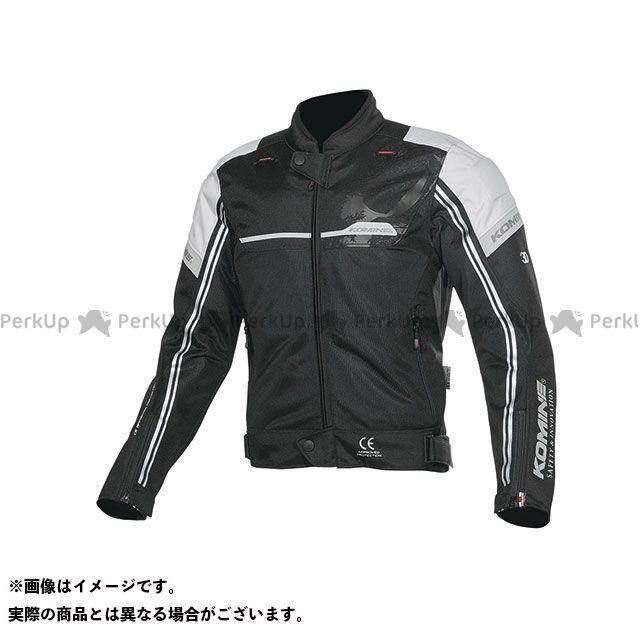 KOMINE ジャケット 2019年春夏モデル JK-133 エアストリームメッシュジャケット(ブラック/ライトグレー) サイズ:L コミネ