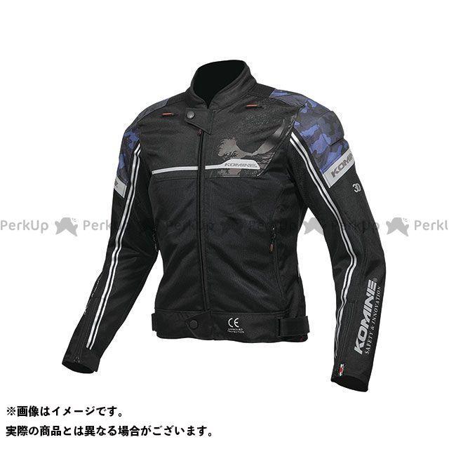 KOMINE ジャケット 2019年春夏モデル JK-133 エアストリームメッシュジャケット(ブラック/ブルーカモ) サイズ:XL コミネ